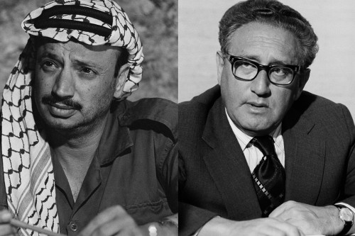 Oslo Portraits of Yasser Arafat and Henry Kissinger