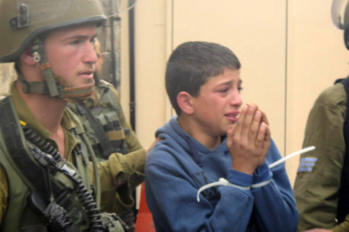 Photo of Palestinian child detainee
