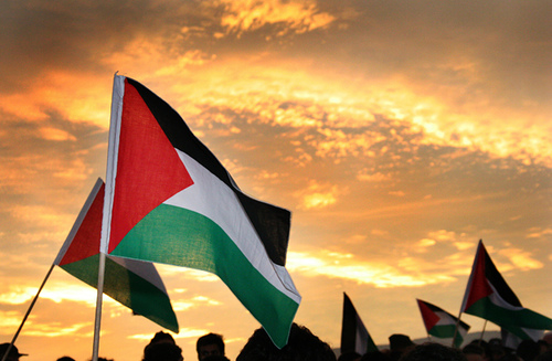 Photo of Palestinian flag