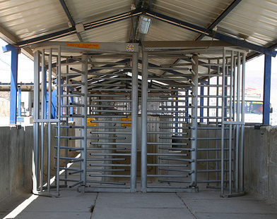 Photo of Israeli checkpoint