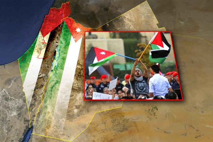 Illustration of Palestinian refugees in Jordan