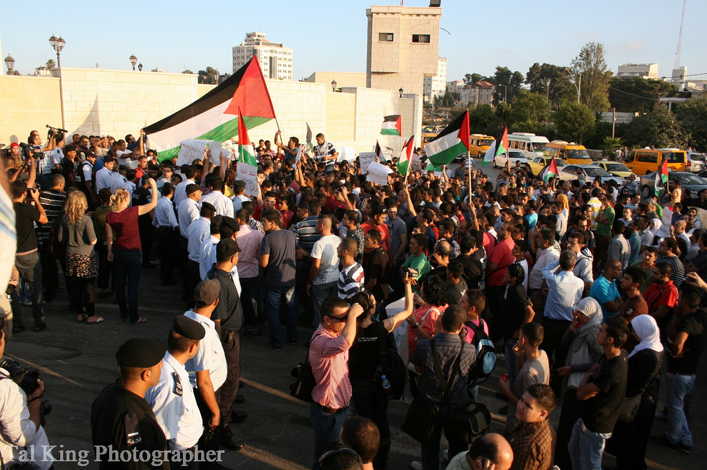 Photo of demonstration by Tal King
