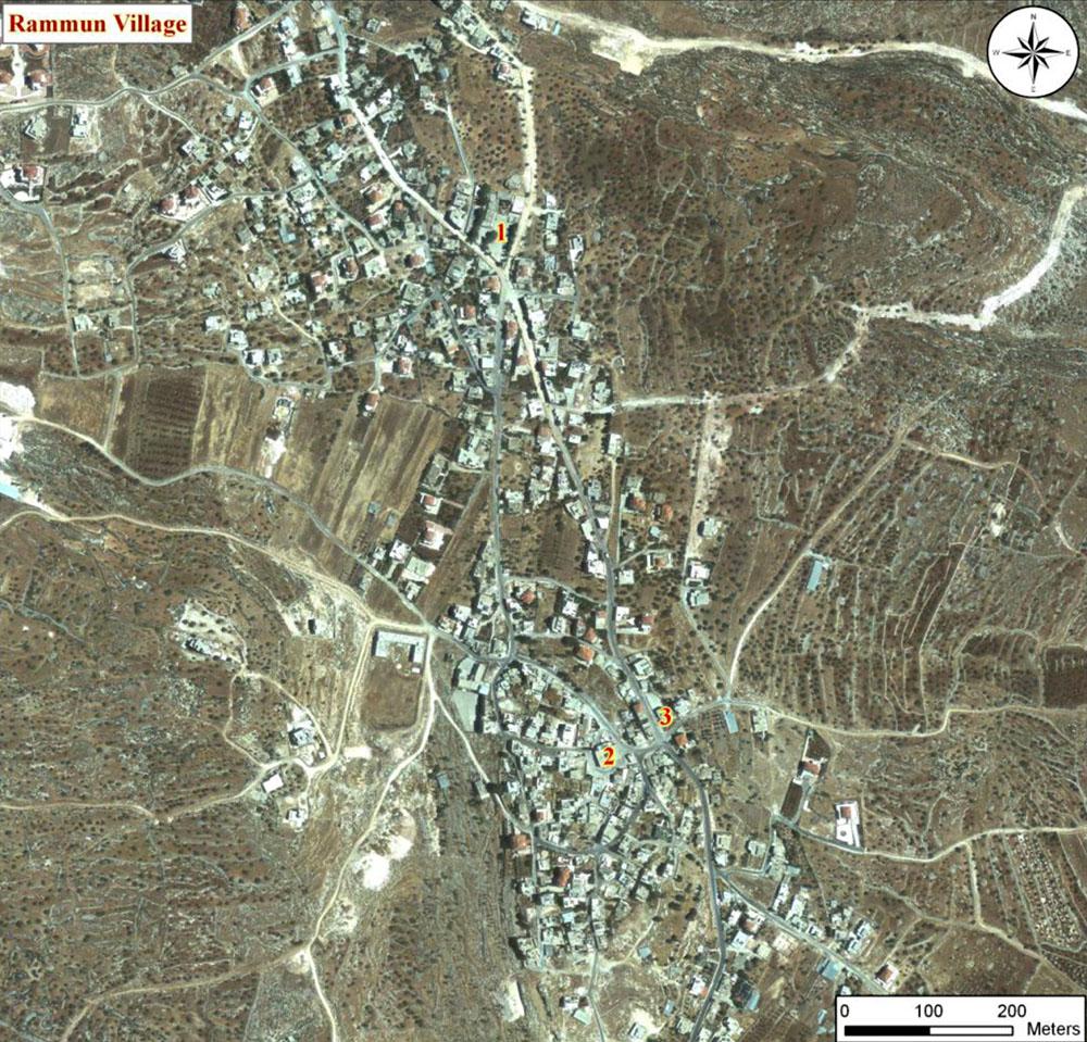 Aerial view of Rammun Village