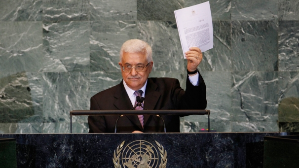 Photo of Mahmoud Abbas at UN