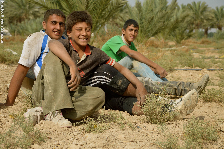 Photo of Palestinian farmers