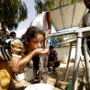 Photo of girl drinking water