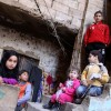 Children infront of their home in Shatila refugee camp in Lebanon
