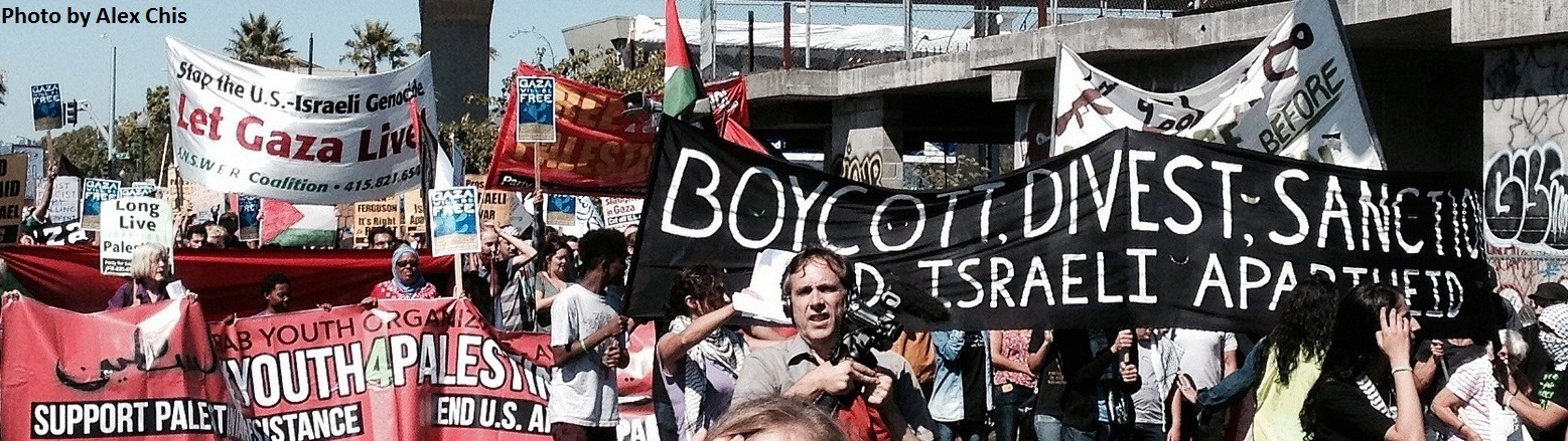 BDS protest in California