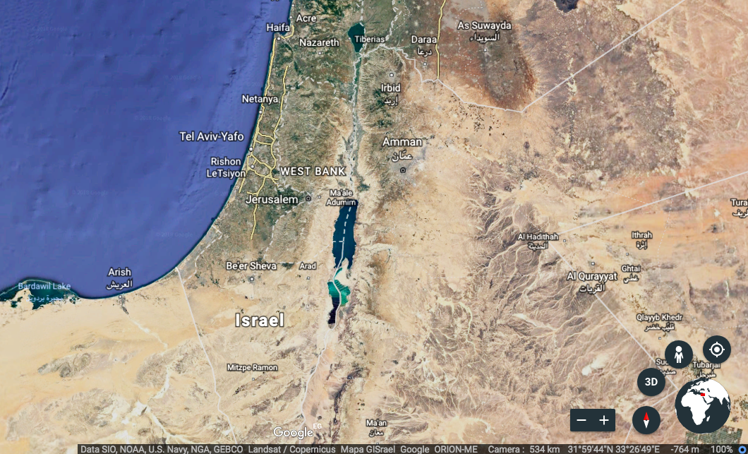 Palestine Satellite Image