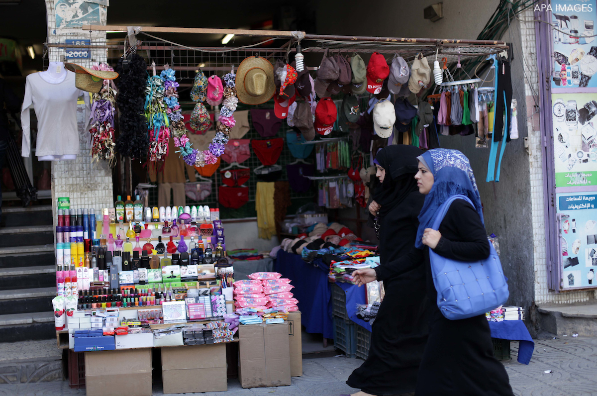 Internal palestinian trade market